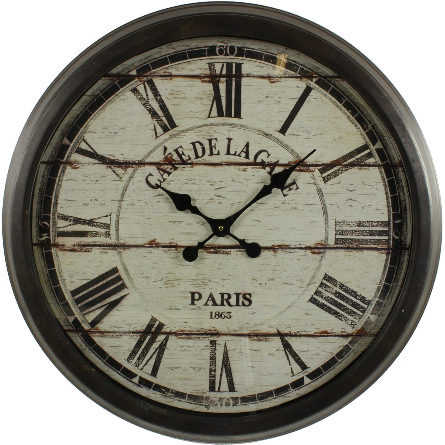 grande horloge ancienne murale cafe de la gare cm with grosse pendule. Black Bedroom Furniture Sets. Home Design Ideas