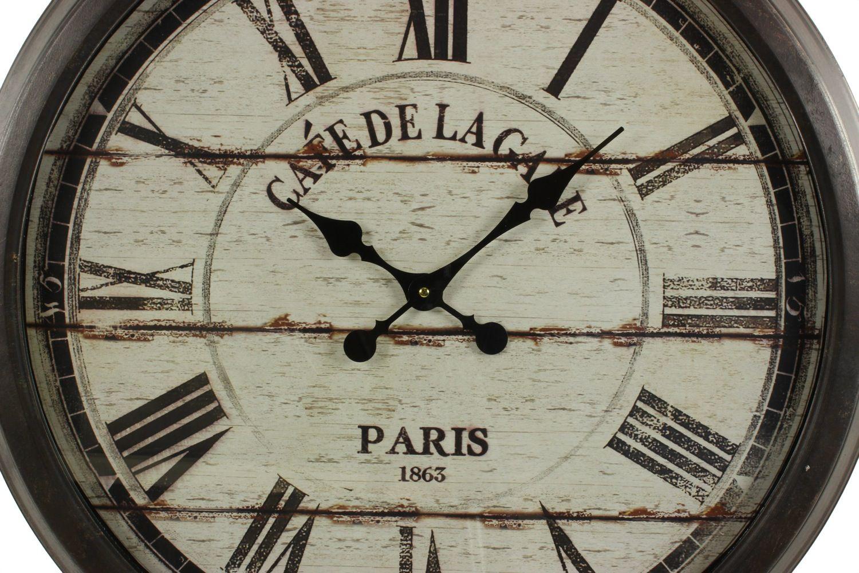 grande horloge ancienne murale caf de la gare 70cm. Black Bedroom Furniture Sets. Home Design Ideas
