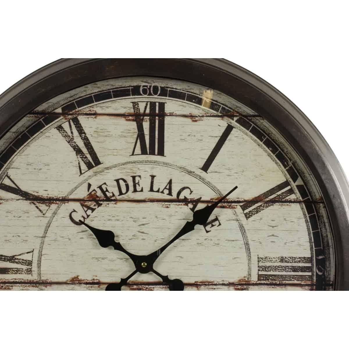 Grande Horloge Ancienne Murale Café De La Gare 70cm